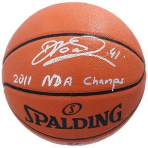 "DIRK NOWITZKI Autographed Mavericks ""2011 NBA Champs"" Basketball FANATICS"