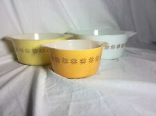 Vintage Pyrex Town And Country 3 Pc Casserole Set (No Lids) #'s 473, 474, 475