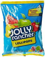 Jolly Rancher 40 Green Apple, Watermelon, Mango Lollipop - Free Shipping