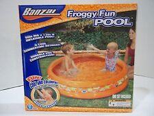 """Banzai Froggy Fun Pool Inflatable KidsSwimming 60""""  NIB"""