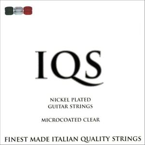 3 SETS IQS ELECTRIC HVY 11-49 NICKEL STEEL MICROCOATED QUALITY ITALIAN STRINGS