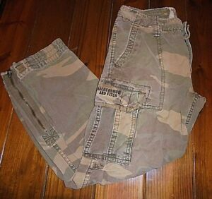 Vintage Abercrombie And Fitch Men's size M Camo Cargo Paratrooper Pants LOOK!!