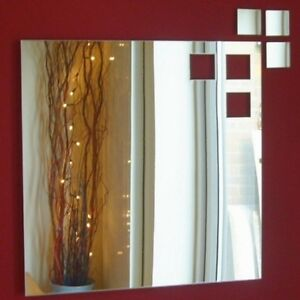 Square out of square Mirrors (Shatterproof Acrylic mirrors, Several Sizes)