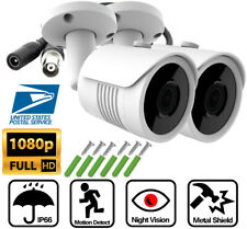2X AHD TVI 2MP 1080P Night Vision Security Camera 2.8mm Lens CCTV In/Outdoor