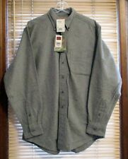 NEW! WOOLRICH Chamois Flannel Shirt Gray M Medium $69+! New W/ Tags! GREAT GIFT!
