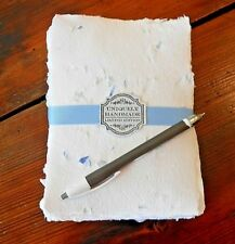 Handmade Paper Sheets -18 sheets - White/Blue (717) Free Shipping