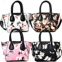 Women  Bag Satchel Purse Tote Flower Print Handbag Shoulder Bag Messenger Hobo