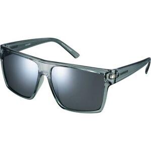 Shimano Square Glasses - Transparent Grey - Smoke Silver Mirror