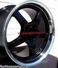 C5 Deep Dish Style Blackmachined Lip Corvette Wheels 17x9.518x10.5 1997-2004