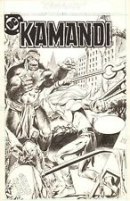Kamandi Unpublished Cover - 1980's art by Eduardo Barreto Comic Art