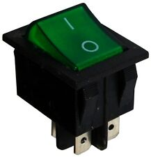 Interrupteur commutateur contacteur bouton à bascule vert DPST ON-OFF 15A/250V