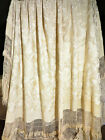 Antique Chinese Embroidered Silk Floral Shawl w/ Long Fringes