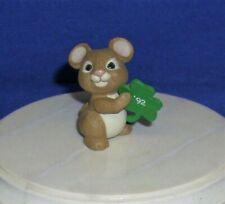 Hallmark St. Patrick's Day Merry Miniatures Mouse with Shamrock 1992 Irish Used