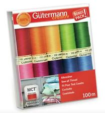Gutermann Sew All Thread Set - 10x 100m Reels Mix Colours - Brights