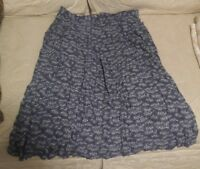 000 Women's Vintage Size 12 Worthington Rayon Mini White Flowers Design Skirt