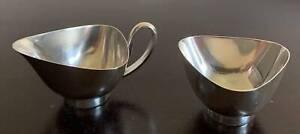 Georg Nilsson Silver Plated Jug & Bowl (Georg Jensen Style) C1950