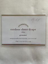 """New Pottery Barn Set Of Two Outdoor Grommet Curtains, 50""""  x 84"""" - Ivory"""