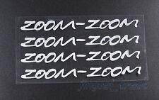 4pcs ZOOM-ZOOM Logo Silver White Car Auto SUV Sticker Decal for Mazda Mazdaspeed