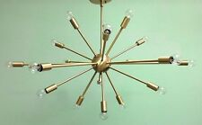 MID CENTURY MODERN BRASS ATOMIC SPUTNIK CHANDELIER  18 ARM LIGHT FIXTURE