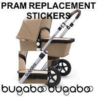 x2 BUGABOO Pram Pushchair Stoller Replacement Chassi Vinyl Stickers Decals