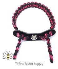 Bow Wrist Sling Pink Widow Leather Yoke Paracord Archery
