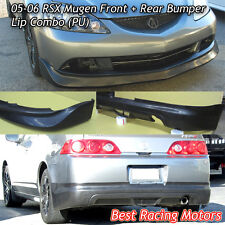Mu-gen Style Front + Mu-gen Style Rear Lip (Urethane) Fits 05-06 Acura RSX 2dr