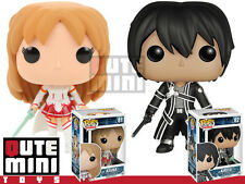 FUNKO POP JAPAN ANIMATION SWORD ART ONLINE ASUNA KIRITO SET OF 2 VINYL FIGURE