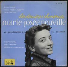 MARIE-JOSEE NEUVILLE RARE 25CM Les dernières chansons de... PATHE AT 1102