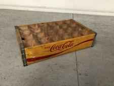More details for vintage wooden crate coca cola in orange 100% original in natural wood