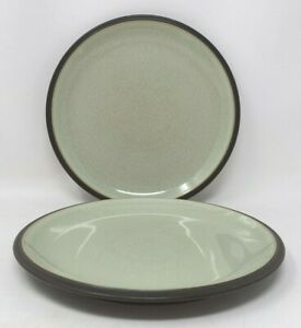 Denby Energy Charcoal And Celadon Green 2 x 9 Inch Salad Or Dessert Plates