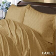 1000 Thread Count Egyptian Cotton 6 Pc Sheet Set  Us Sizes Taupe Striped
