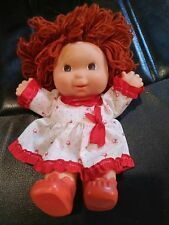 EFFE Vintage Doll 1984 Made in ITALY Italia Rubber Doll Red Yarn Hair OUTFIT Toy