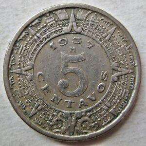 MEXICO 1937 FIVE 5 CENTAVOS COIN (KM# 423)