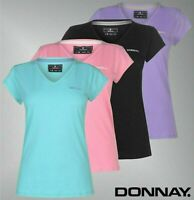 Ladies Donnay Short Sleeve Back Neck Taping V Neck T Shirt Sizes from 8 to 22