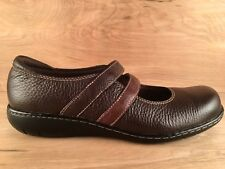Clarks Bendables Mary Jane Casual Shoes 80623 Brown Leather Women's US 9.5 M
