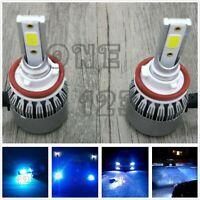 NEW 2X H8 H9 H11 H16 8000k ice blue 8000LM CREE LED Headlight Bulbs Kit Low Beam