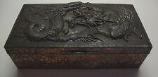 Antique Japanese Meiji period antimony trinket box