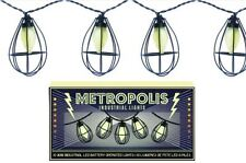 set of 10 LED industrial vintage retro style METROPOLIS decorative party lights