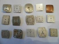 15 Vintage Wrist Watch Dials Helbros Doric Bruner Vogue Bulova 4 Art Lot# P127