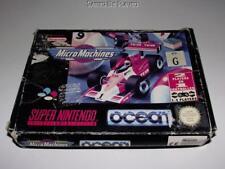 Micro Machines Super Nintendo SNES Boxed PAL *No Manual*