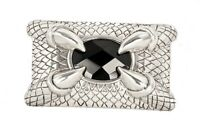 The Claw Heavy Metal Claw Belt Buckle Black Stone Silver Plated