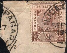 MALAYA STRAITS SETTLEMENTS 1901 piece TANJONG PAGAR cds....................12952