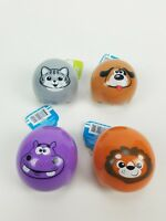 Lot of 4. Spark Baby Toy Rattle Easy Rolling Animals 12+ month. Safari Jungle