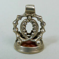 GEORGIAN SILVER FOB WITH NELSON INTAGLIO SEAL C.1810