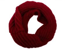 Women Ladies Wool Knit Winter Warm Knitted Neck Circle Cowl Snood Scarf 2017 NEW