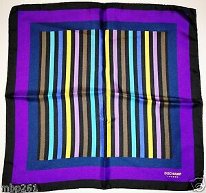 Duchamp London - Printed silk pocket square - NEW!