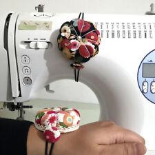 Cute Pumpkin Shape Sewing Needles Pin Cushion Pillow Wrist Strap Storage Holder
