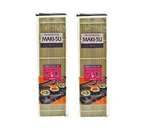 ANGEBOT: 2 x Sushimatte Sushi Sushimaker 27cm Sushi Matte breite Stäbe 2 x BREIT