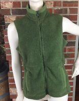 Eddie Bauer Women's Size S Green Polartec Full Zip Fleece Vest