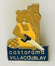 Castorama Villacoublay Beaver Saw Lapel Pin Badge Vintage (C10)